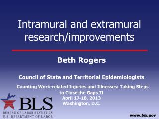Intramural  and extramural research/improvements