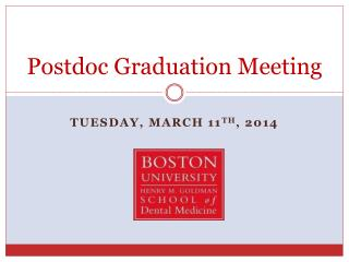 Postdoc Graduation Meeting
