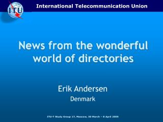 News from the wonderful world of directories
