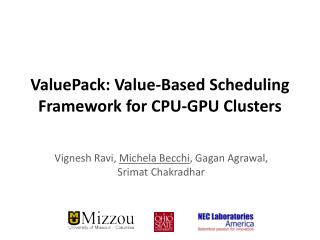 ValuePack: Value-Based Scheduling Framework for CPU-GPU Clusters