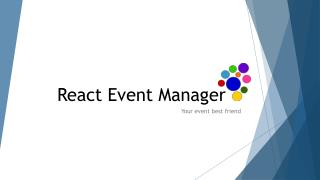 React Event Manager