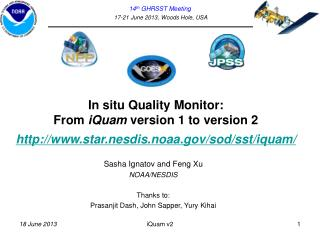 In  situ Quality  Monitor:  From  iQuam  version 1 to version 2