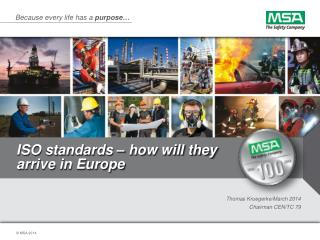 ISO  standards � how will they arrive in Europe