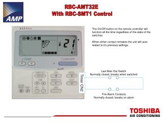 RBC-AMT32E  With RBC-SMT1 Control