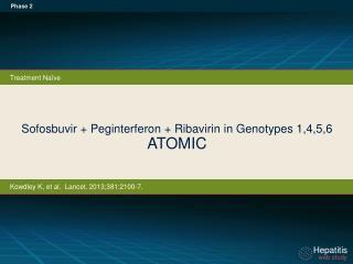 Sofosbuvir + Peginterferon  + Ribavirin in  Genotypes  1,4,5,6 ATOMIC