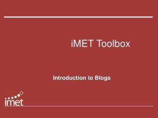 iMET Toolbox