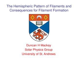 The Hemispheric Pattern of Filaments and Consequences for Filament Formation
