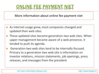 Some Logical Facts about online fee payment niet
