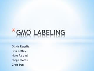 GMO LABELING