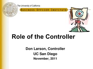 Role of the Controller