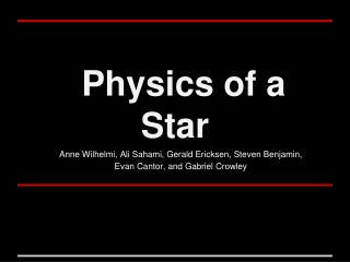 Physics of a Star