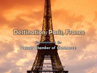 Destination: Paris, France