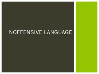 Inoffensive Language