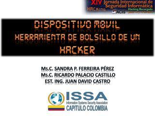 M s .C . SANDRA P. FERREIRA PÉREZ  M s .C . RICARDO PALACIO  CASTILLO Est . Ing. JUAN DAVID CASTRO