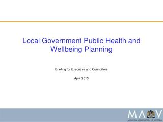 Local Government Public Health and Wellbeing  Planning