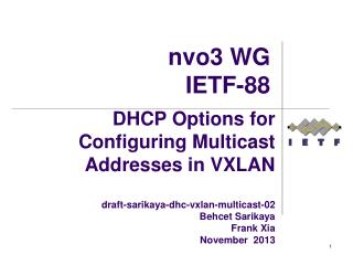 nvo3  WG IETF-88
