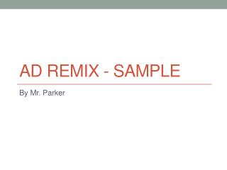 Ad Remix - Sample