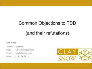 Common Objections to TDD (and their refutations)