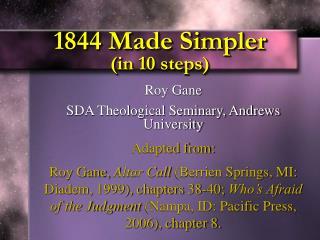 1844 Made Simpler  in 10 steps