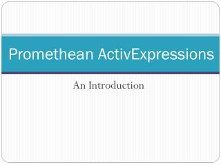 Promethean  ActivExpressions