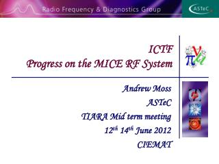 ICTF  Progress  on the MICE RF System