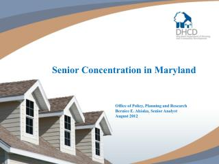 Senior Concentration in Maryland