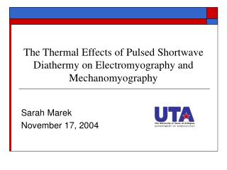 The Thermal Effects of Pulsed Shortwave Diathermy on Electromyography and Mechanomyography