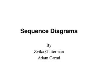 Sequence Diagrams