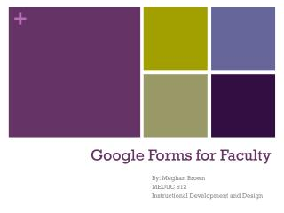 Google Forms for Faculty