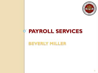 PAYROLL SERVICES BEVERLY MILLER