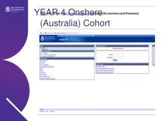 YEAR 4 Onshore (Australia) Cohort