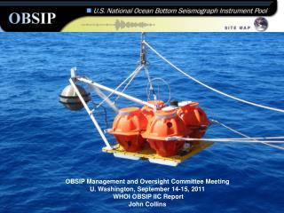 WHOI OBSIP  2010  At-Sea  Activities