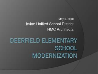 Deerfield Elementary School Modernization