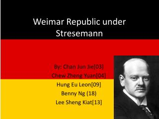 Weimar Republic under Stresemann