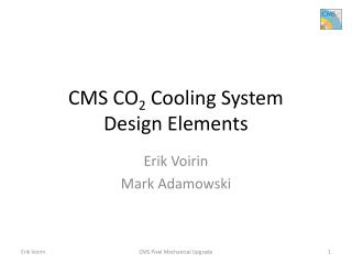 CMS CO 2  Cooling System Design Elements