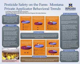 Pesticide Safety on the Farm:  Montana Private Applicator Behavioral Trends