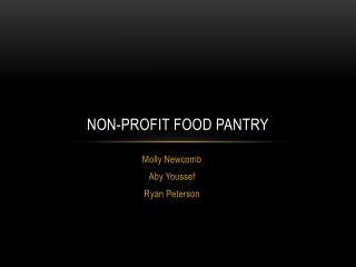 Non-Profit Food Pantry