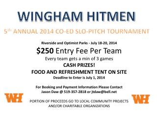 Riverside and Optimist Parks - July  18-20, 2014 $250  Entry Fee Per Team