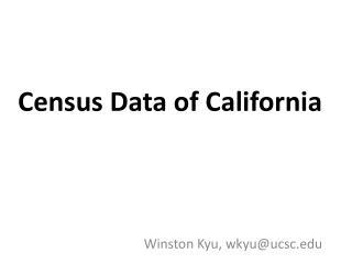 Census Data of California