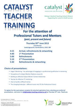 Catalyst Teacher training