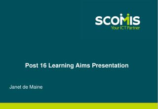 Post 16 Learning Aims Presentation