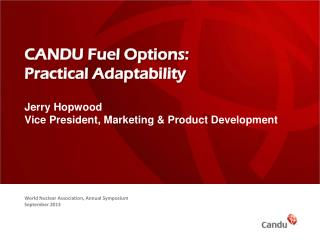 CANDU Fuel Options: Practical Adaptability
