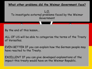 What other problems did the Weimar Government face? L.O.