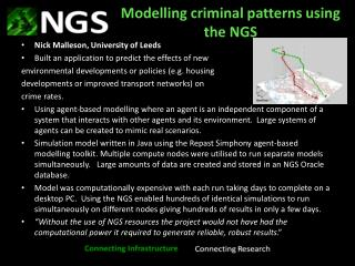Modelling criminal patterns using the  NGS