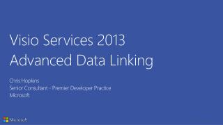 Visio Services 2013 Advanced Data Linking