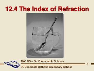 12.4 The Index of Refraction