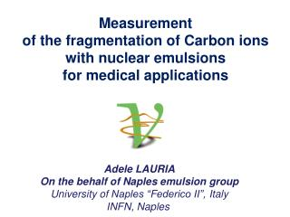 Measurement  of the fragmentation of Carbon ions  with nuclear emulsions  for medical applications