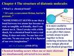 Chapter 4 The structure of diatomic molecules