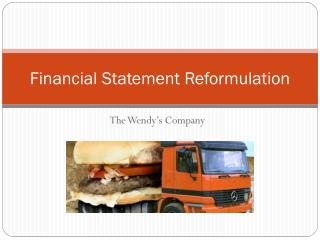 Financial Statement Reformulation