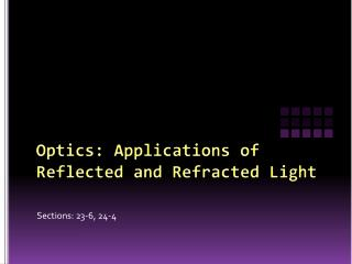 Optics: Applications of Reflected and Refracted Light